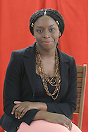 Award-winning Nigerian author Chimamanda Ngozi Adichie pictured at the Edinburgh International Book Festival where she talked about her new book entitled Half Of A Yellow Sun. The Book Festival was the World's largest literary event and featured writers from around the world. The 2006 event featured around 550 writers and ran from 13-28 August.