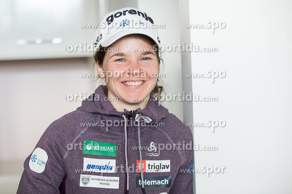 Alenka Cebasek during press conference of Slovenian Nordic Ski team before new season 2017/18, on November 14, 2017 in Gorenje, Ljubljana - Crnuce, Slovenia. Photo by Vid Ponikvar / Sportida