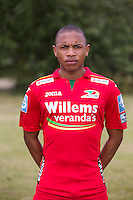 20150626 - OOSTENDE, BELGIUM: Oostende's Andileernest Jali pictured during the 2015-2016 season photo shoot of Belgian first league soccer team KV Oostende, Friday 26 June 2015 in Oostende. BELGA PHOTO KURT DESPLENTER