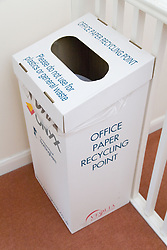 Box for office paper recycling,