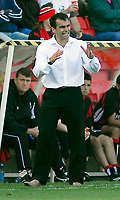 Photo: Leigh Quinnell.<br /> Bournemouth v Swansea City. Coca Cola League 1. 14/10/2007. Swansea boss Roberto Martinez asks for more from his team.
