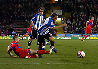 Photo: Matt Bright/Sportsbeat Images.<br /> Crystal Palace v Sheffield Wednesday. Coca Cola Championship. 15/12/2007.<br /> Wade Small of Sheffield Wednesday escapes the attentions of  David Martin of Crystal Palace