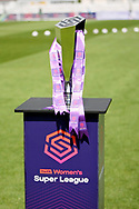 The Women's Super League trophy before the FA Women's Super League match between Arsenal Women FC and Manchester City Women at Meadow Park, Borehamwood, United Kingdom on 12 May 2019.