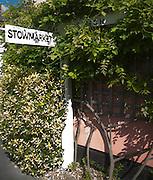 Road sign at village of Mendlesham, Suffolk, England