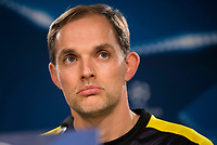 Borussia Dortmund's coach Thomas Tuchel during the official press conference before the Champions League match between Real Madrid and Borussia Dortmund at Santiago Bernabeu Stadium in Madrid, Spain. December 06, 2016. (ALTERPHOTOS/BorjaB.Hojas)