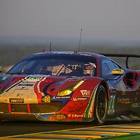 #71, AF Corse Ferrari, Ferrari 488 GTE, driven by: Davide Rigon, Sam Bird, Miguel Molina, 24 Heures Du Mans 85th Edition, 18/06/2017,