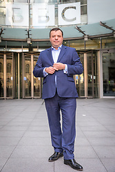 © Licensed to London News Pictures. 23/04/2017. London, UK. Millionaire UKIP donor ARRON BANKS outside Broadcasting House after appearing on Sunday Politics. Banks intends to stand for election as an MP in Clacton, the seat currently held by former UKIP MP and rival Douglas Carswell who will not stand for reelection in the 8 June General Election. Photo credit: Rob Pinney/LNP