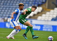 Huddersfield Town's Fraizer Campbell battles with Preston North End's Jordan Storey<br /> <br /> Photographer Dave Howarth/CameraSport<br /> <br /> The EFL Sky Bet Championship - Huddersfield Town v Preston North End - Saturday 24 October 2020 - The John Smith's Stadium - Huddersfield<br /> <br /> World Copyright © 2020 CameraSport. All rights reserved. 43 Linden Ave. Countesthorpe. Leicester. England. LE8 5PG - Tel: +44 (0) 116 277 4147 - admin@camerasport.com - www.camerasport.com