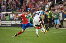 September 1, 2017 - Harrison, New Jersey, U.S - Costa Rica midfielder CELSO BORGES (5) blocks a cross by USMNT defender GRAHAM ZUSI (19) during a World Cup qualifier match at Red Bull arena in Harrison, NJ.  Costa Rica defeats USA 2 to 0. (Credit Image: © Mark Smith via ZUMA Wire)