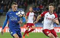 LEICESTER, ENGLAND - OCTOBER 16: Leicester City's Jamie Vardy during the Premier League match between Leicester City and West Bromwich Albion at The King Power Stadium on October 16, 2017 in Leicester, England. (Photo by Rachel Holborn - CameraSport via Getty Images)