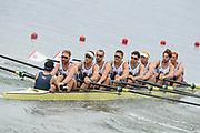 "Rio de Janeiro. BRAZIL.   GBR M8+. Bow. Scott DURANT,   Tom RANSLEY, Andy Triggs HODGE,HODGE,  Matt GOTREL,  Pete REED, Paul BENNETT, Matt LANGRIDGE, William SATCH and Cox, Phelen HILL, moving away from the start at the 2016 Olympic Rowing Regatta. Lagoa Stadium,<br /> Copacabana,  ""Olympic Summer Games""<br /> Rodrigo de Freitas Lagoon, Lagoa.   Monday  08/08/2016 <br /> <br /> [Mandatory Credit; Peter SPURRIER/Intersport Images]"