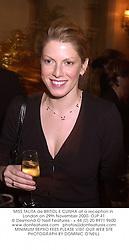 MISS TALITA de BRITOL E CUNHA at a reception in London on 29th November 2000.OJP 41