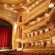 An interior view of  the recently restored Teatro Municipal, The Municipal Theatre in the Centre of Rio de Janeiro.Rio de Janeiro,  Brazil. 20th September 2010. Photo Tim Clayton.