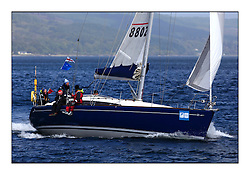 Brewin Dolphin Scottish Series 2011, Tarbert Loch Fyne - Yachting - Day 3 of the 4 day series. Windier!..Class 8 winner GBR8802T, Butterfly, Stevie Andrews, Strangford Lough YC Harmony 44..