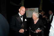 PATRICK STEWART; MARY WEBSTER, The Royal Shakespeare Company (Stratford) fundraising dinner and auction to benefit company's Artists' Development Programme. Lawrence Hall, Greycoat St. London. 28 October 2008 *** Local Caption *** -DO NOT ARCHIVE-© Copyright Photograph by Dafydd Jones. 248 Clapham Rd. London SW9 0PZ. Tel 0207 820 0771. www.dafjones.com.