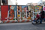 New York. Lower east side. frescoes , graffitis and paintings in lower east side under renovation  Ludlow street, new trendy area  New York - United states / fresques et graffitis dans Lower east side en renovation , dernier quartier ultra tendance  New York - Etats-unis