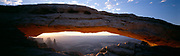 Mesa Arch in colour with Canyonlands view