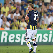 Fenerbahce's Dirk Kuyt during the UEFA Champions League Play-Offs First leg soccer match Fenerbahce between Arsenal at Sukru Saracaoglu stadium in Istanbul Turkey on Wednesday 21 August 2013. Photo by Aykut AKICI/TURKPIX