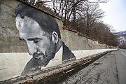 A portrait of Armenian Prime Minister Nikol Pashinyan is seen drawn at a wall of M4 highway, 9/km south of Dilijan towards Sevanavnk on Sunday, Jan 16, 2021. Pashinyan has been under huge pressure from the opposition to step down after nearly 3,000 Armenians have been killed in six weeks of clashes with Azerbaijan over the breakaway region of Nagorno Karabakh. (Photo/ Vudi Xhymshiti)