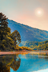 A Golden Sunrise Along The Buffalo River, America's first national river, begins its 132-mile tumble down toward the White River in the upper Ponca wilderness, some of the most remote and rugged country in the Ozarks. This stretch of the river is not suitable for floating, has little access and is mostly seen only be dedicated hikers. But the river reaches the historic Boxley Valley and begins a peaceful meandering that stretches the length of the long, narrow break in the hills before it begins its magnificent sweeps around the high limestone bluffs for which it is famous.