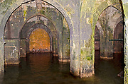 Israel, Ramla, The Pool of Arches, an underground water cistern. Also known as St. Helen's Pool and B?r al-Anez?ya, it was built during the reign of the caliph Haroun al-Rashid in 789 CE (the early Islamic period) to provide Ramla with a steady supply of water