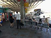 Israel, Haifa, Lev Hamifratz central bus station Lev Hamifratz