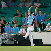 Robbie Deans drops a catch  during Australia's Big Bash Cricket match to raise money for the Victorian Bushfire Appeal at the Sydney Cricket Ground, Sydney, Australia on February 22, 2009. The match was attended by over 20,000 spectators.  Photo Tim Clayton