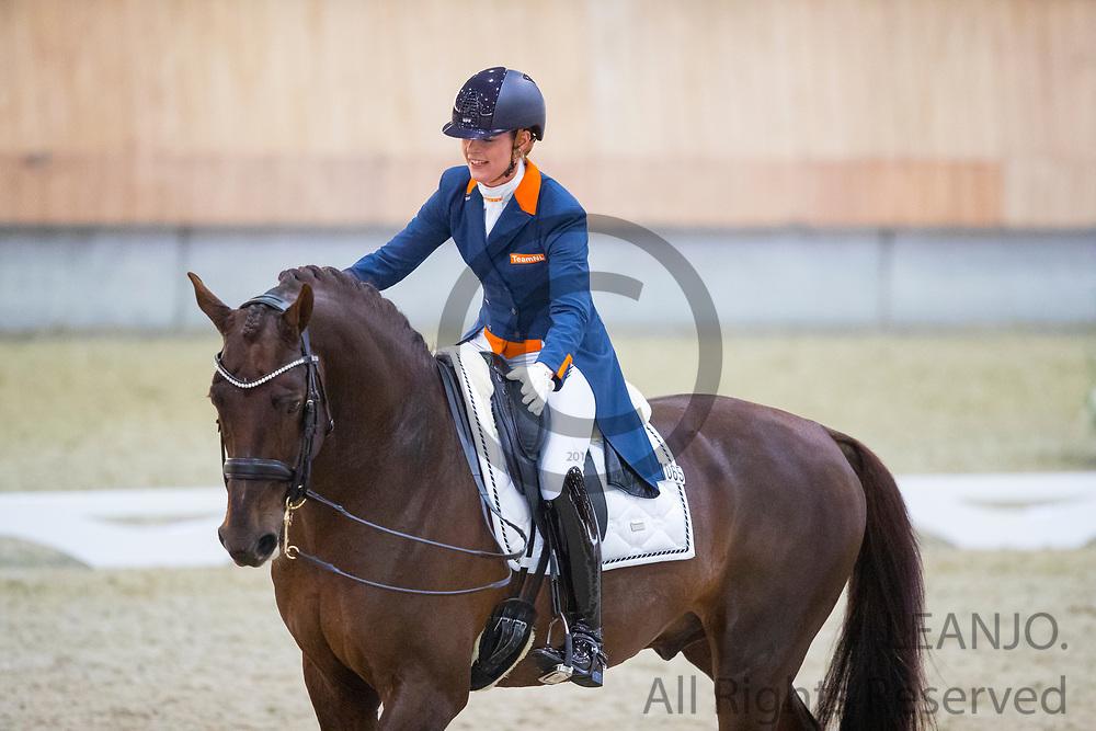 Adelinde Cornelissen - Fleau de Baian<br /> KNHS Indoorkampioenschappen 2018<br /> © DigiShots