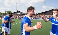 UTRECHT -  Vreugde bij Robbert Kemperman (Kampong)   na  de finale van de play-offs om de landtitel tussen de heren van Kampong en Amsterdam (3-1). Kampong is weer landskampioen.  COPYRIGHT KOEN SUYK