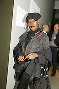Grace Jones, THE LOUISE T BLOUIN INSTITUTE OPENS WITH INAUGURAL EXHIBITION: James Turrell: A Life in Light Exhibition. OLAF ST. LONDON. 12 OCTOBER 2006.  -DO NOT ARCHIVE-© Copyright Photograph by Dafydd Jones 66 Stockwell Park Rd. London SW9 0DA Tel 020 7733 0108 www.dafjones.com