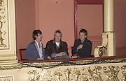 Danny Goffey, Rhys Ifans. Jefferson Hack on right. Frost French, Duke of York's theatre. St, Martin's Lane. 17/2/02© Copyright Photograph by Dafydd Jones 66 Stockwell Park Rd. London SW9 0DA Tel 020 7733 0108 www.dafjones.com