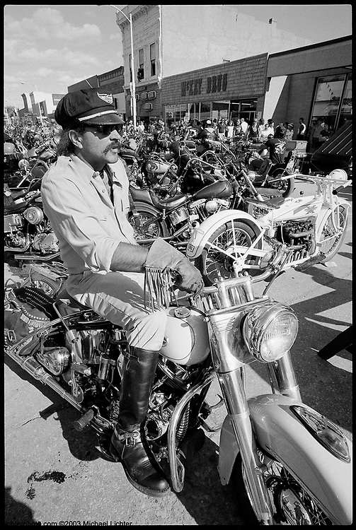 Stylin' on Main, Sturgis, SD, 1987<br /> <br /> Limited Edition Print from an edition of 15. Photo ©1987 Michael Lichter.