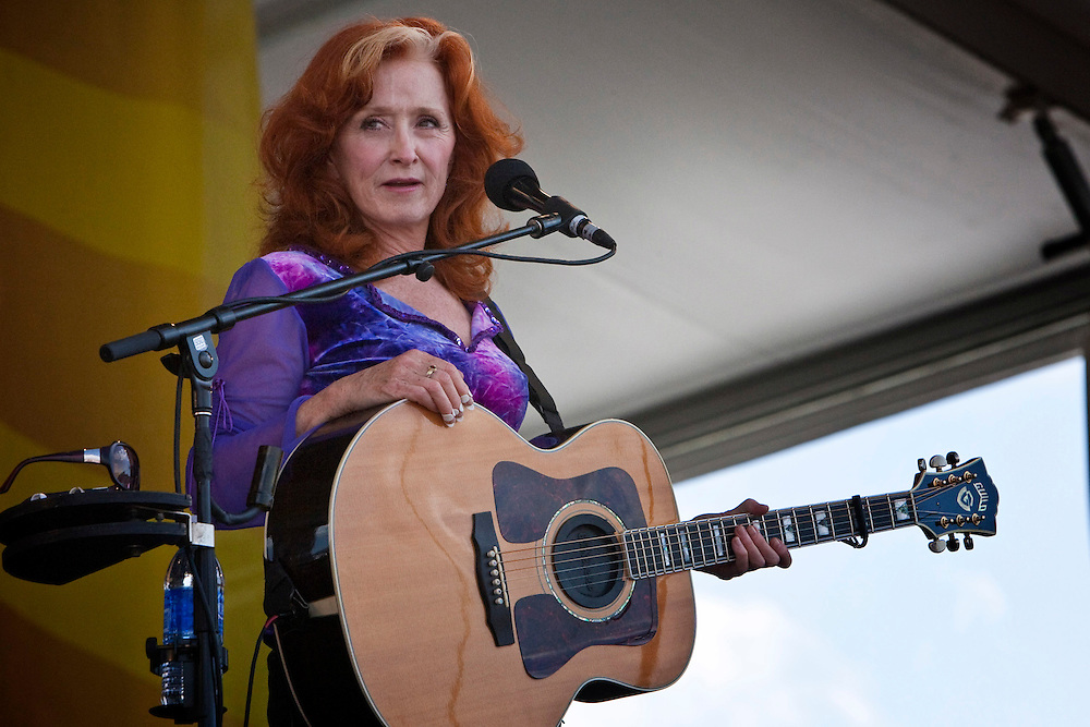 Bonnie Raitt performs on the Acura stage at the New Orleans Jazz and Heritage Festival at the New Orleans Fair Grounds Race Course in New Orleans, Louisiana, USA, 1 May 2009.