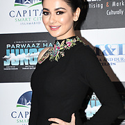 """Hania Amir attend Photocall in London Premiere of """"Parwaaz Hai Junoon"""" (Soaring Passion) as featured on SKY, ITV at The May Fair Hotel, Stratton Street, London, UK. 22 August 2018."""