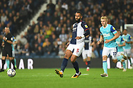 West Bromwich Albion defender Kyle Bartley (5) on defensive duties during the EFL Sky Bet Championship match between West Bromwich Albion and Derby County at The Hawthorns, West Bromwich, England on 14 September 2021.