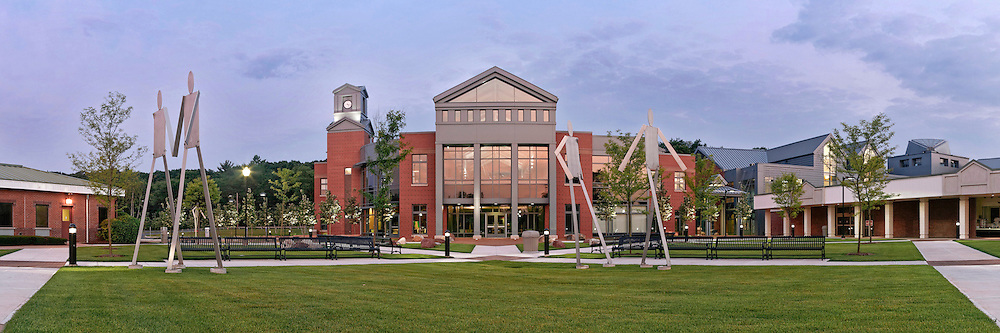 The central courtyard at Tunxis Community College in Farmington, CT
