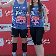 Jack & Holly Ramsey at London Marathon 2018 on 22 April 2018, Blackhealth, London, UK.
