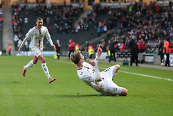 Milton Keynes Dons' Patrick Bamford celebrates after scoring a goal - Photo mandatory by-line: Nigel Pitts-Drake/JMP - Tel: Mobile: 07966 386802 23/11/2013 - SPORT - Football - Milton Keynes - Stadium MK - Milton Keynes v Bradford City - Sky Bet League One