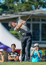 January 11, 2019 - Honolulu, HI, U.S. - HONOLULU, HI - JANUARY 11: Justin Thomas hits his tee shot at the 2nd hole during the second round of the Sony Open at the Waialae Country Club in Honolulu, HI. (Photo by Darryl Oumi/Icon Sportswire) (Credit Image: © Darryl Oumi/Icon SMI via ZUMA Press)