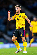 Dries Mertens (#14) of Belgium reacts as his long range effort sails over the bar during the International Friendly match between Scotland and Belgium at Hampden Park, Glasgow, United Kingdom on 7 September 2018.