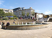 Fountains in Castle Square, Swansea, West Glamorgan, South Wales, UK