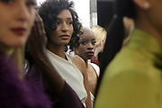 """NEW YORK, NEW YORK-FEBRUARY 13: Models attend """"CAPTURED"""" the Fall/Winter Collection 2019 presented by Designer Aisha McShaw during New York Fashion Week and held at the Gallery at Prince George Ballroom on February 11, 2019 in New York City.  (Photo by Terrence Jennings/terrencejennings.com)"""