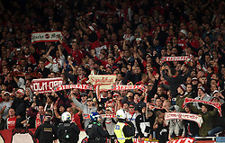FC Koln fans show their support in the stands