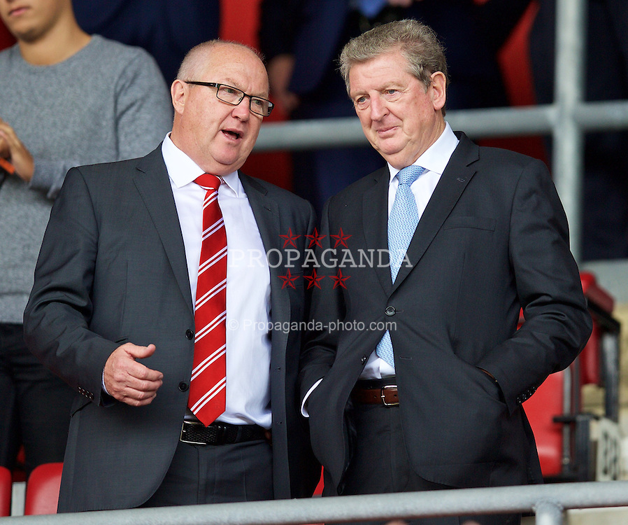 SOUTHAMPTON, ENGLAND - Saturday, August 15, 2015: England manager Roy Hodgson during the FA Premier League match between Southampton and Everton at St Mary's Stadium. (Pic by David Rawcliffe/Propaganda)