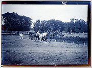 military horse show jumping event France 1920s