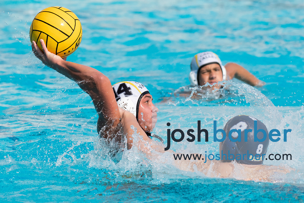 Capistrano Valley's Julien Coco during the CIF-SS Division 4 boys water polo Final at William Woollett Jr. Aquatic Center on Saturday, November 10, 2018 in Irvine, Calif. (Photo by Josh Barber, Contributing Photographer)