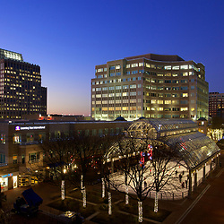 Reston Town Center at Night with Christmas Lights  Northern Virginia
