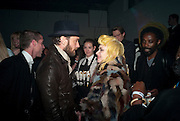 JUDE LAW; PAM HOGG, Vanity Fair  hosted  UK Premiere and party for Beyond Time. A film about the artist William Turnbull made by his son Alex Turnbull. Narrated by Jude Law. I.C.A. London. 17 November 2011<br /> <br />  , -DO NOT ARCHIVE-© Copyright Photograph by Dafydd Jones. 248 Clapham Rd. London SW9 0PZ. Tel 0207 820 0771. www.dafjones.com.