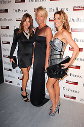 Left to right, EMILY OPPENHEIMER, ELISABETH MURDOCH and KIRSTY BERTARELLI at The Love Ball hosted by Natalia Vodianova and Lucy Yeomans to raise funds for The Naked Heart Foundation held at The Round House, Chalk Farm, London on 23rd February 2010.