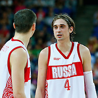08 August 2012: Russia Alexey Shved is seen during 83-74 Team Russia victory over Team Lithuania, during the men's basketball quarter-finals, at the 02 Arena, in London, Great Britain.